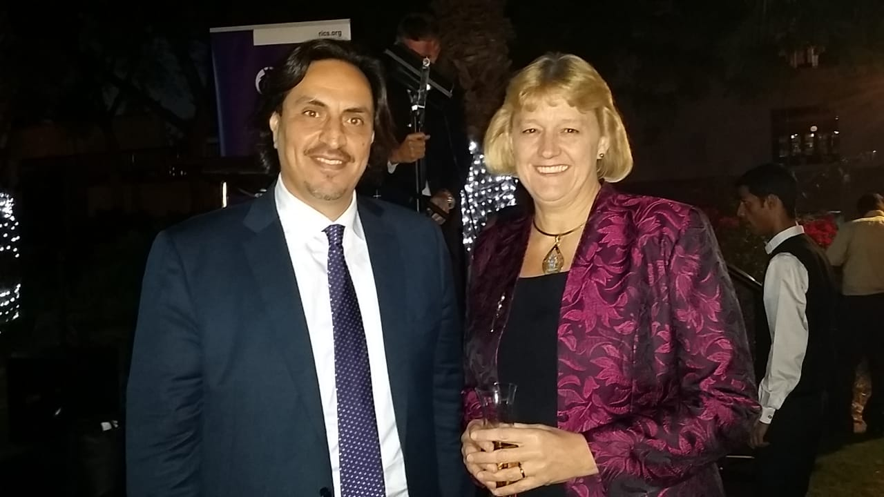 With Jane Louise Brooke-Smith, RICS world president